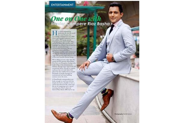Riaz Basha interview in New Year Special edition of Town trends, South India's rising lifestyle maga