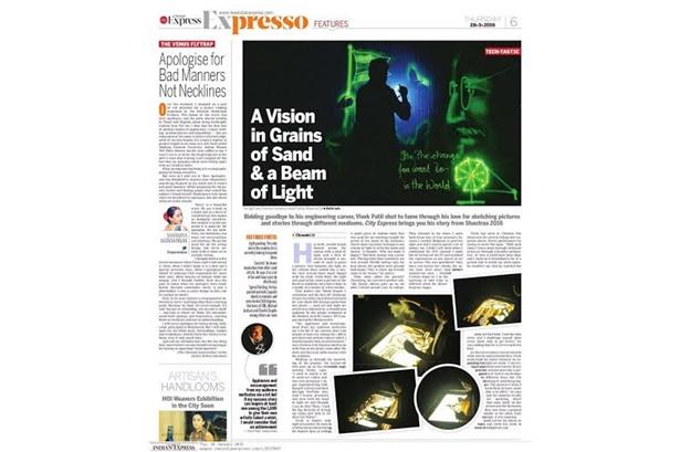 Vivek Patil featured in Chennai - The New Indian Express