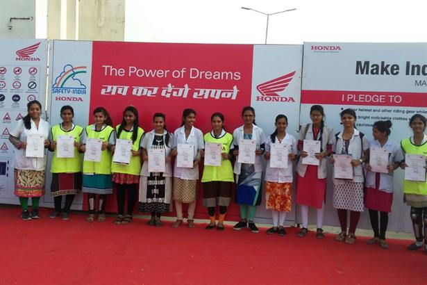 Honda 2Wheelers India Partnered By Tek Advertising, Conducts Mega Safety Riding Drive in Gujarat