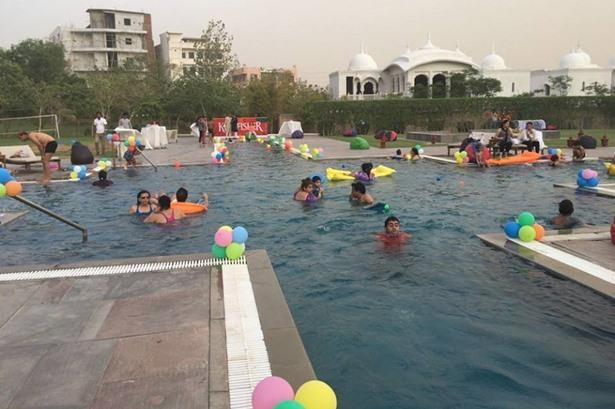 Pool party at Fairmont Jaipur