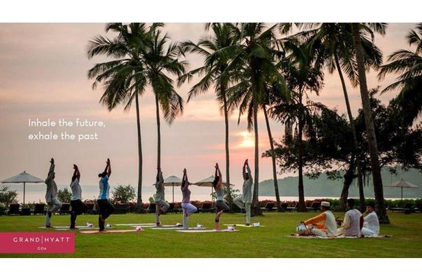 Grand Hyatt Goa celebrating International Yoga Day.