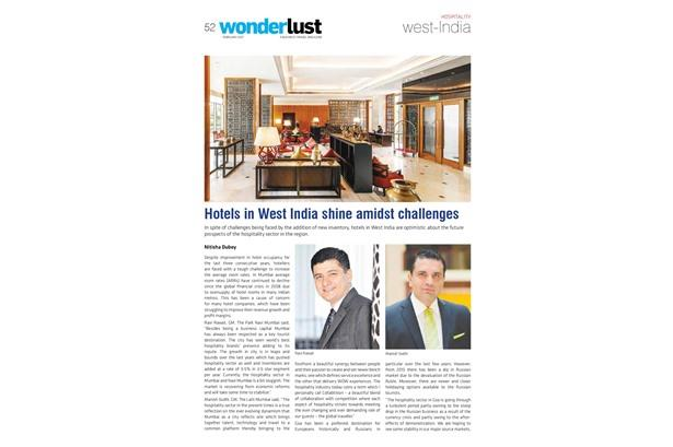Mr Manish Sodi, General Manager of The Lalit Mumbai featured in Wonderlust magazine.