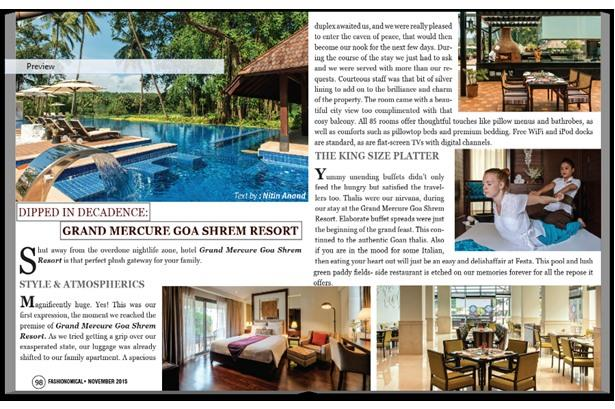 Grand Mercure Goa Shrem Resort featured on Fashionomical Magazine