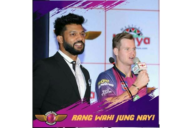 With the captain Steve Smith at the Meet & Greet with Rising Pune Superstar for Kenya Tourism