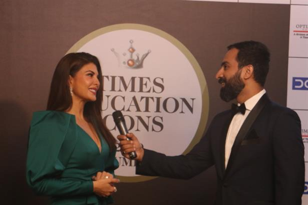 Arpit in conversation with Jacqueline Fernandez at the Times Education Icons 2019
