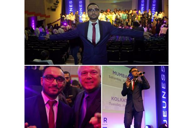 Raja Mukherjee hosted India's 1st ever 'Discover Jeunesse Tour' at St. Andrew's Auditorium for 800+