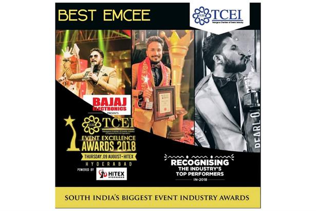 Recognized BY TCEI- As THE PEARL OF HYDERABAD-BEST MALE EMCEE-ARUNN RAJ