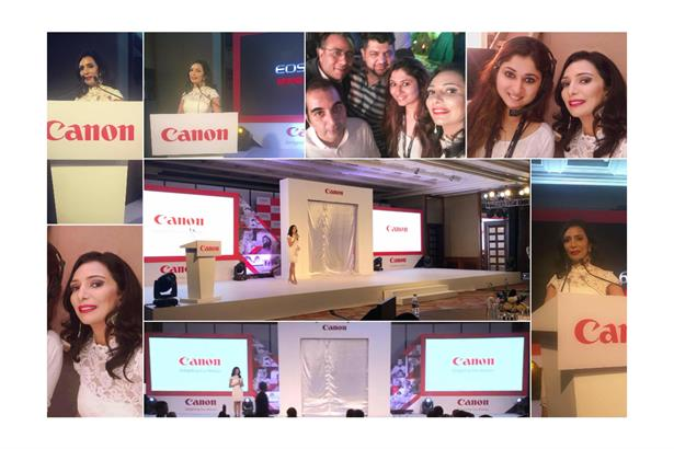 Anchor - Emcee Aishwarya hosts the launch of Canon's EOS 6D Mark II - Event Managed by Fountainhead Events and Activations