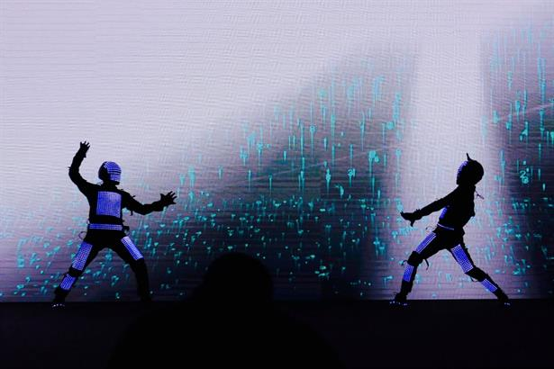 Skeleton Dance Crew Performed Customized Video Mapping Visual Tron in AMRITSAR for HEWLETT PACKARD (HP.)