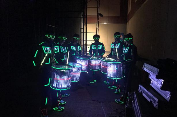 LED Drummers for BRITANNIA