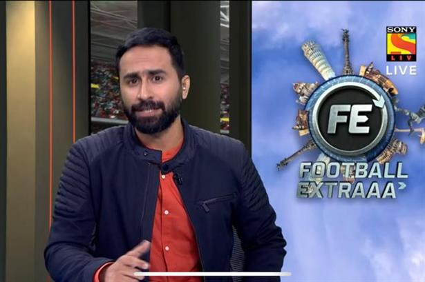 Arpit Sharma hosting LIVE for the Sony Sports Network.