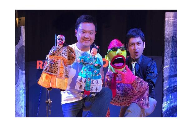 Performing with Chinese Puppeteer at World Puppetry Carnival in Sarawak, Malaysia