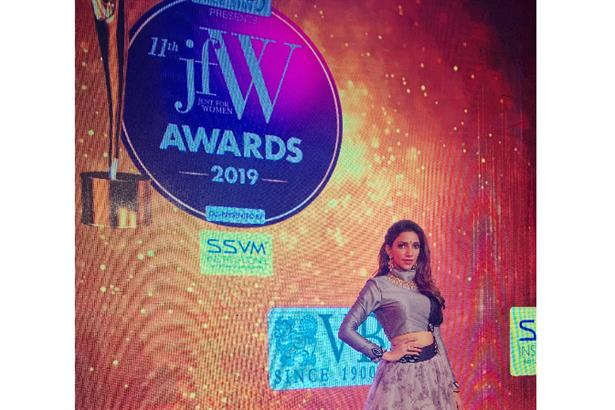 Vj Bhavna Performing and Hosting the 'JFW Awards' 2019 In Chennai