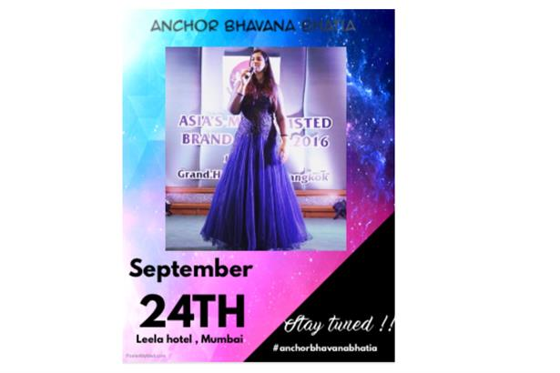 Anchor Bhavana Bhatia the official host for the India's Most Trusted Brand Awards