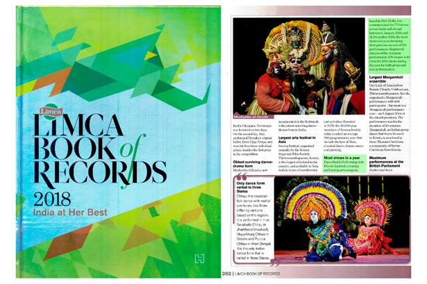 DanceSmith has again acquired the record of Most Shows Performed in a Year 2016 in Limca Book Of Record 2018