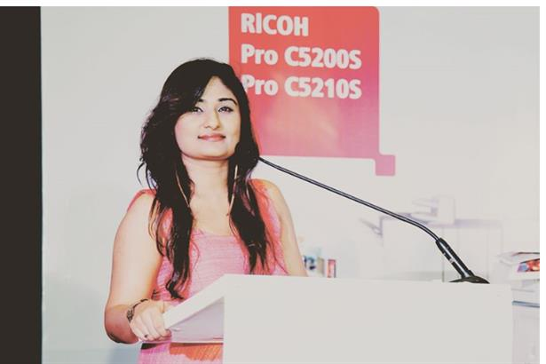 A click while hosting ricoh product launch event at courtyard by marriot,Mumbai.