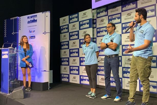 Audrey D'silva hosting the 2nd edition of Skechers performance Mumbai walkathon with Siddhant chaturvedi, who shot to fame for his role in Bollywood film 'Gully Boy