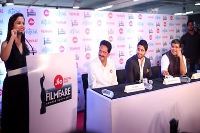Hosted Jio Filmfare South 2017 Press Conference with Tollywood Superstar Naga Chaitanya