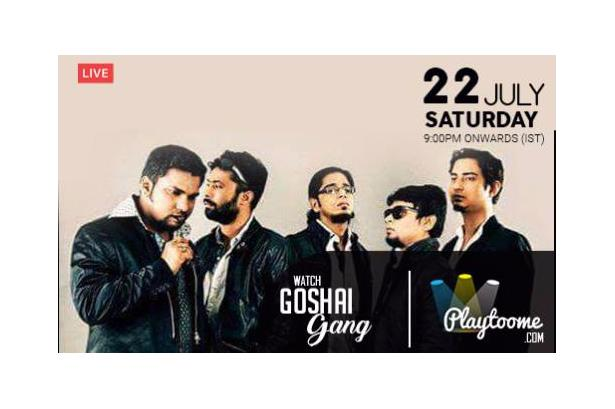 Goshai Gang Going Live Tonight with some Old School Rock N Roll Music At Playtoome