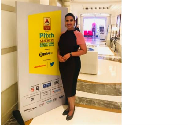 Anchor Kavea R Chavali hosted the PITCH MADISON ADVERTISING REPORT 2018 in Mumbai
