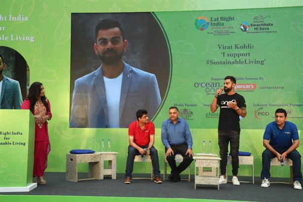 Hosted the Launch of Eat Right India for Sustainable Living Movement with Virat Kohli, Indian skipper.