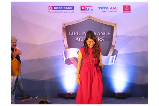 Rupa Rao Anchoring at Annual R&R event for HDFC Bank at Park Regis Hotel, Goa. Event was coordinated by Trip Navigator, Mumbai.
