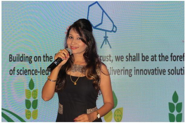 Rupa Rao Emceeing at PI Industries Annual Sales Meet & Award Ceremony  at Planet Hollywood in South Goa, Event executed by Holiday Pack Travel & Living & Bulls Eye Entertainment Goa