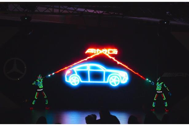 Animatronics Interactive Video Mapping Act for MERCEDES launch in Delhi.