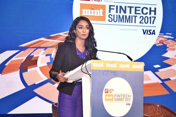 ZINIA FERNANDES, moderates and anchors the MINT FINTECH Summit 2017 recently held in Mumbai.