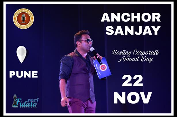 ANCHOR SANJAY POTDAR all set to host Huge Corporate Annual Day for Manufacturing Giant at Pune