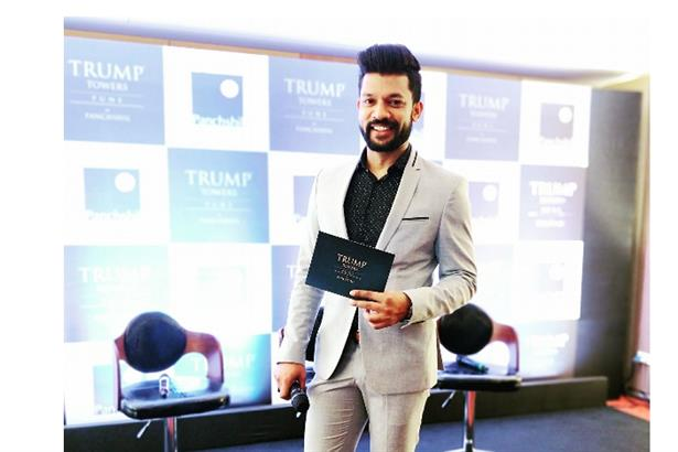 Emcee Chaitanya hosts launch of Trump Towers with Donald Trump Jr