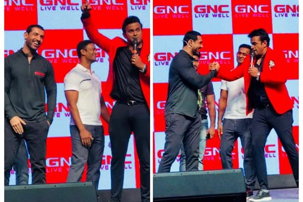 Hosted the launch of 'John Abraham' as the brand ambassador of 'GNC' !