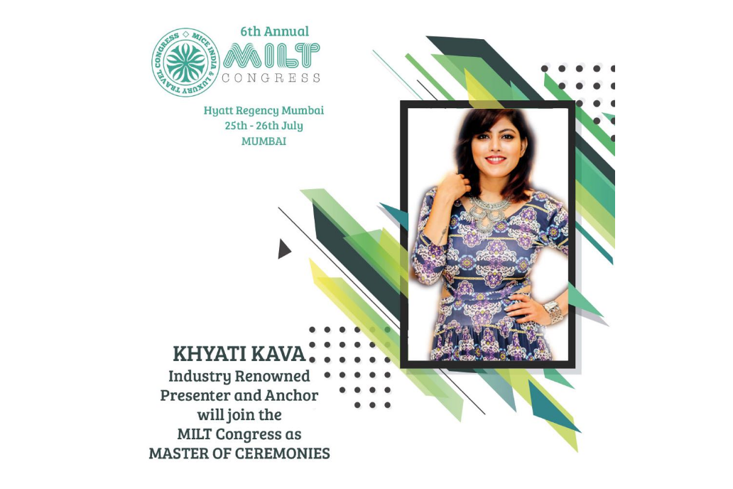 #BornForStage Khyati Kava will be hosting the prestigious 6th Annual MILT Congress in Mumbai.