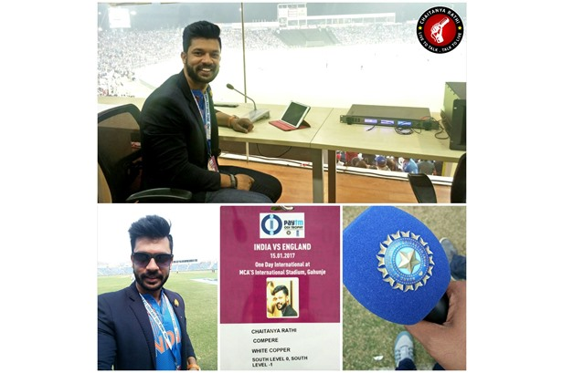Emcee Chaitanya - Official Compere for the India England ODI