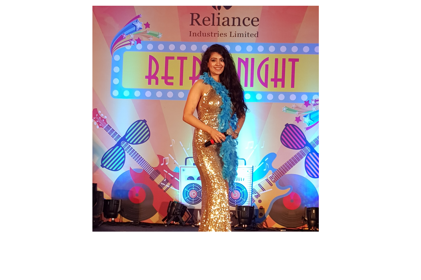 Anchored the Reliance Retro theme night at Alibaug