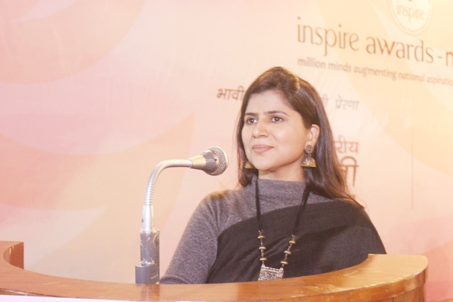 Purnima Sharma at Inspire Awards organized by National Innovation Foundation