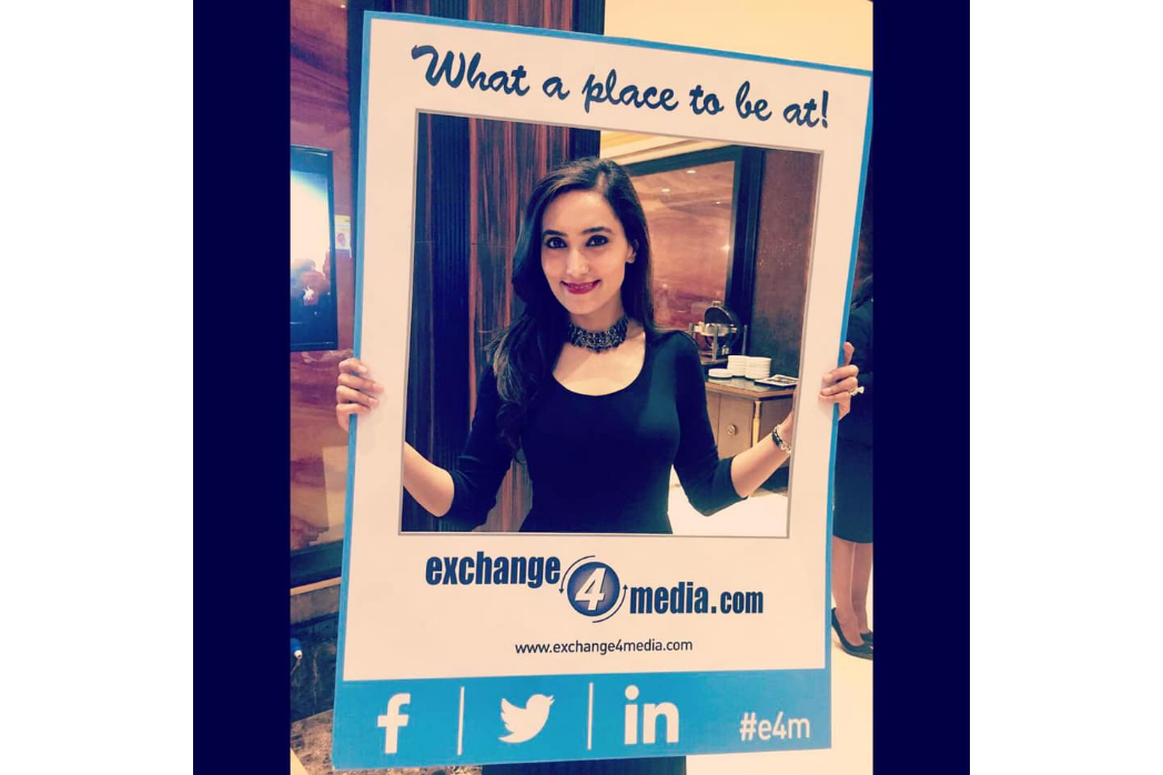 Ritika Jhanji hosts The News Next Conference for Exchange4Media.