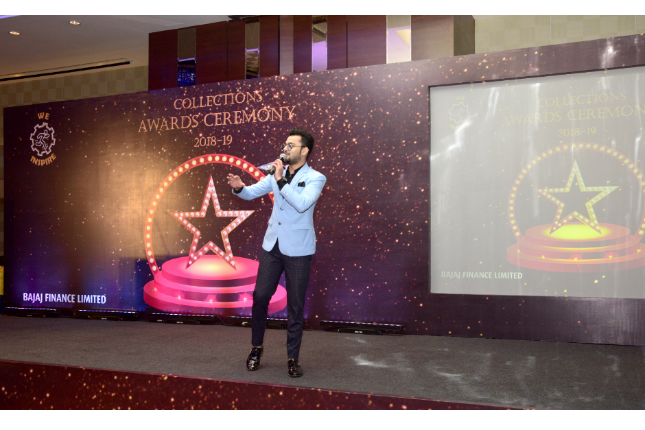 Anchor Jay Hosted the Collection Awards 2019 for Bajaj Finserv