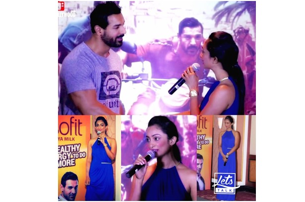 ZINIA FERNANDES in conversation with John Abraham about Health, Fitness & Bollywood at the DISHOOM WITH SOFIT promotion at Taj Lands End, Mumbai  #LetsTalkBollywood