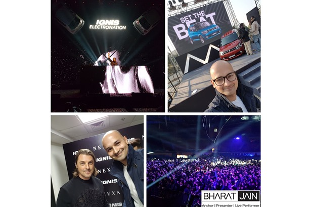 Bharat Jain hosted the IGNIS Launch Concert Engagements and also featured as a VJ at IGNIS Electronation ft. Axwell | Dannic | Nikhil Chinappa | Naved managed by Communique Marketing.