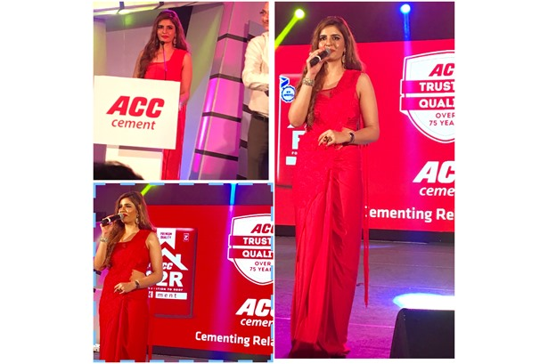 Hosted the Awards Night for ACC Cement at Kolkata feat. Jeet Ganguly