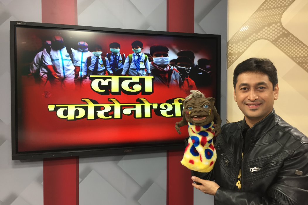 Performed on News18Lokmat Channel to spread awareness about Corona Virus