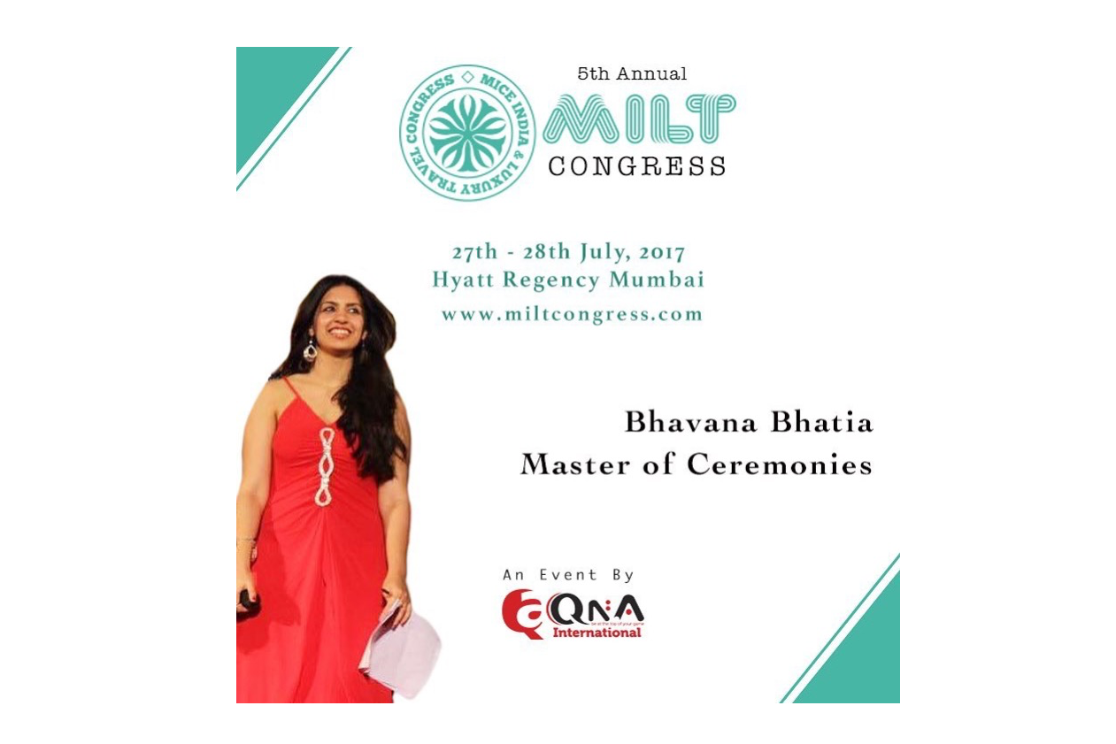 Anchor Bhavana Bhatia anchors the 5 th Annual MILT Congress 2017 in Hyatt Regency , Mumbai on 27 th and 28 th July .