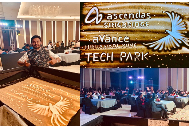 Performed Customized Sand Art for Ascendas-Singbridge at Taj Gateway Pune.