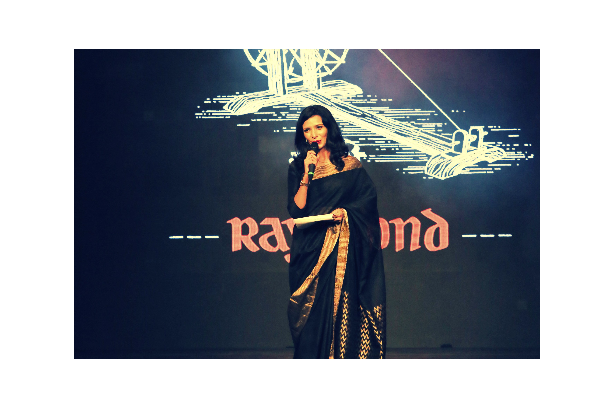 Aishwarya anchors the Khadi showcase (The Story -Respun!) of Raymond at the Australian High Commission in New Delhi, event organised by Showhouse