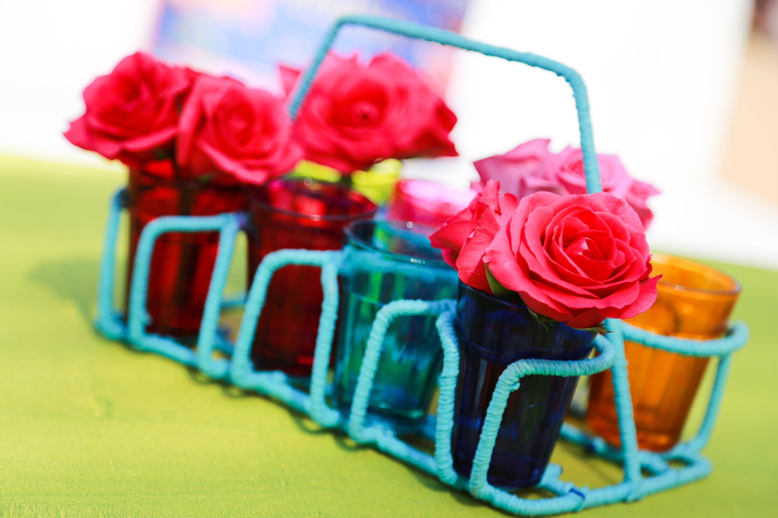 Mehndi Table Centerpieces : A paris meets old bombay themed pool party by the