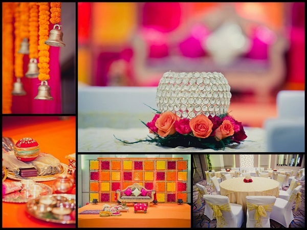 A Simple Yet Vibrant Traditional Indian Engagement By Designer