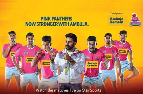 Ambuja Cements Announces its Association with Jaipur Pink Panthers as the Title Sponsor
