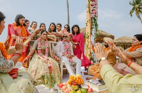The Leela Kovalam Beautifully Decked for this Quirky Wedding by F5 Weddings