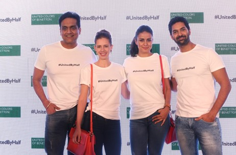 Benetton Launches New Campaign #UnitedByHalf with Kalki Koechlin